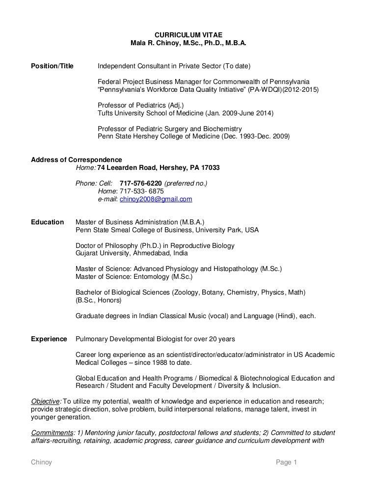 Help With Biology Curriculum Vitae