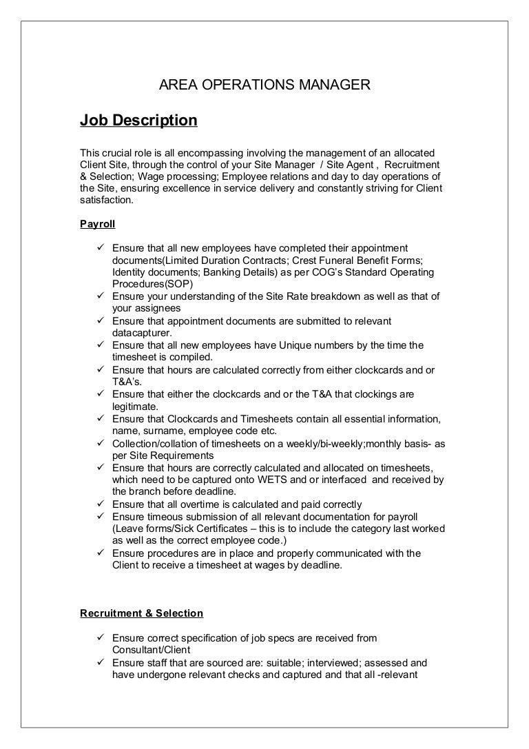job description aom