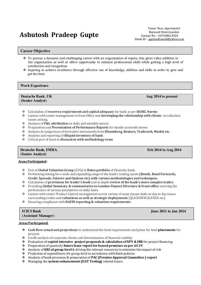 Ashutosh Gupte - Resume