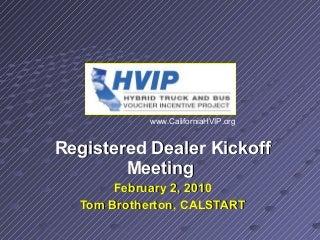 HVIP Dealer Voucher Request Instructions