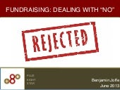 Fundraising: Dealing with No