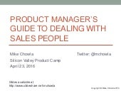 Product Manager's Guide to Dealing With Sales People