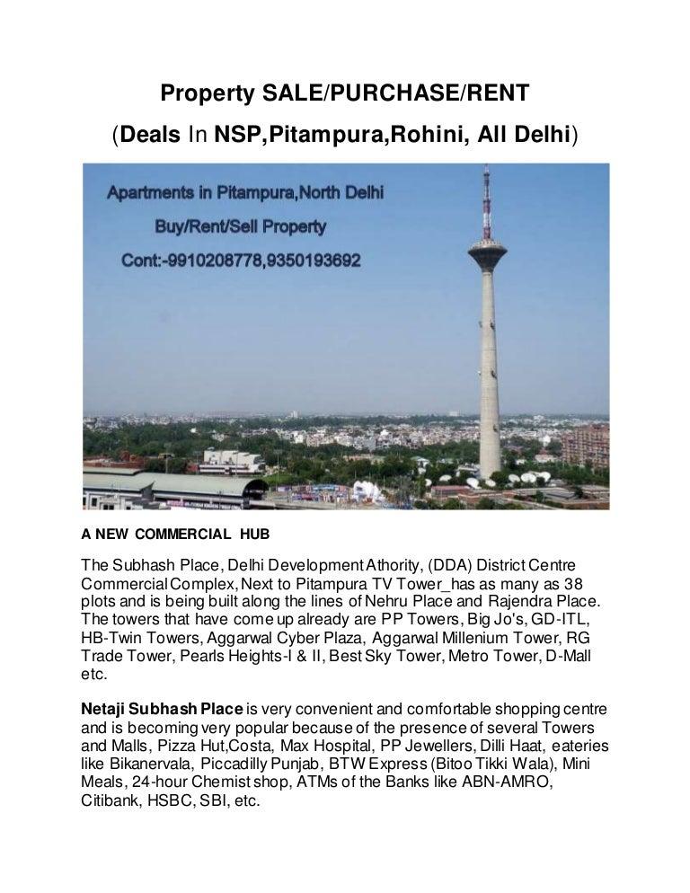 Netaji Subhash Place Deals In Nsppitampurarohinidelhi