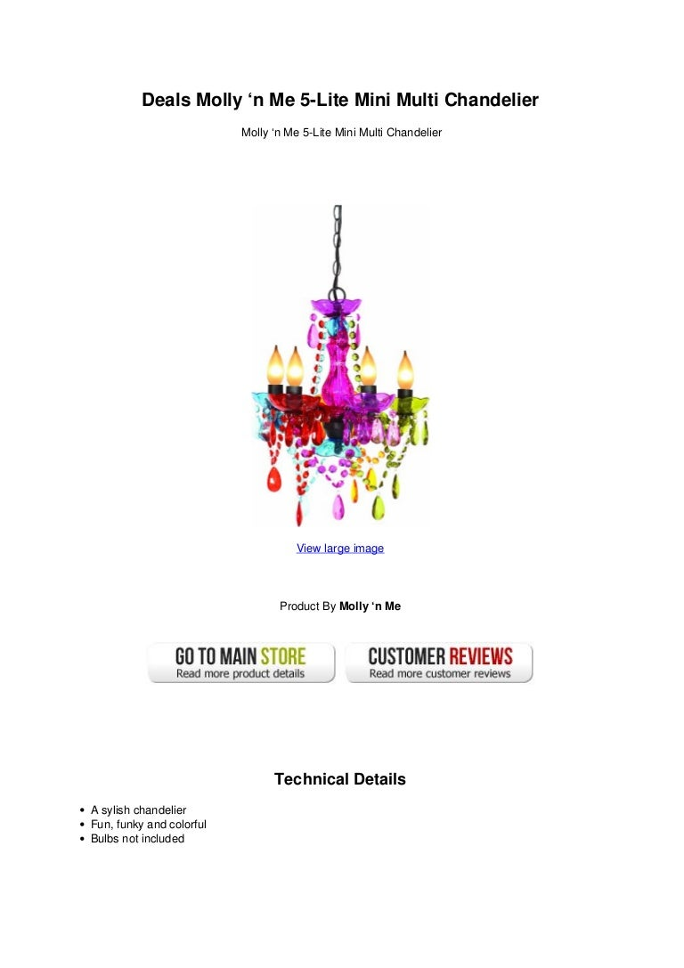 Deals molly n me 5 lite mini multi chandelier arubaitofo Choice Image