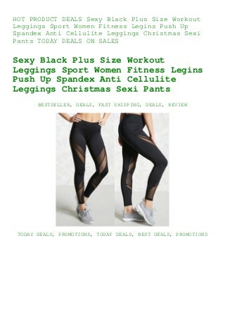 DEALS Sexy Black Plus Size Workout Leggings Sport Women Fitness Legins Push Up Spandex Anti Cellulite Leggings Christmas Sexi Pants TODAY DEALS