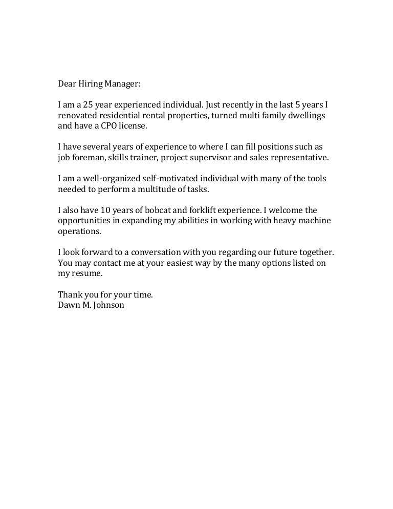 dear recruiting manager