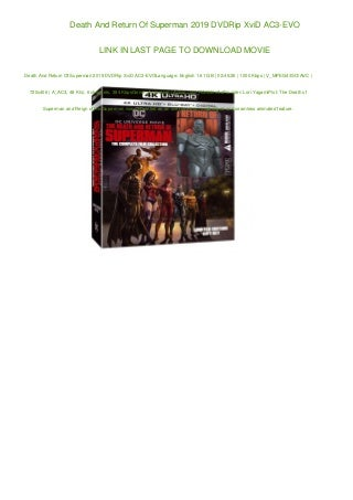 Death And Return Of Superman 2019 DVDRip XviD AC3-EVO