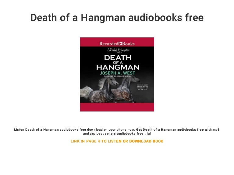 Hitler's hangman audiobooks trial for free.