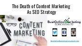 Is Content Marketing As SEO Strategy Dead?