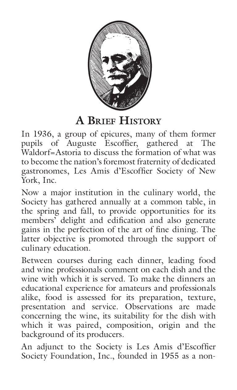 escoffier history