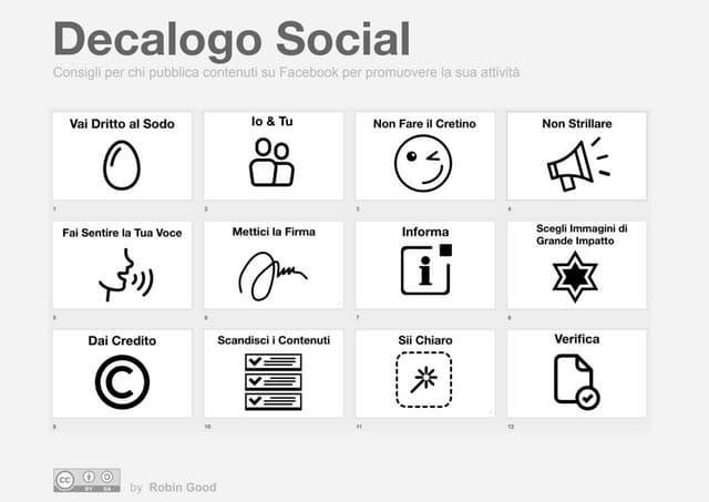 Decalogo Social per Facebook di Robin Good - MiniPoster A4
