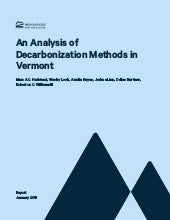 Decarbonization Methods in Vermont Report 2019 1 to 146 pages