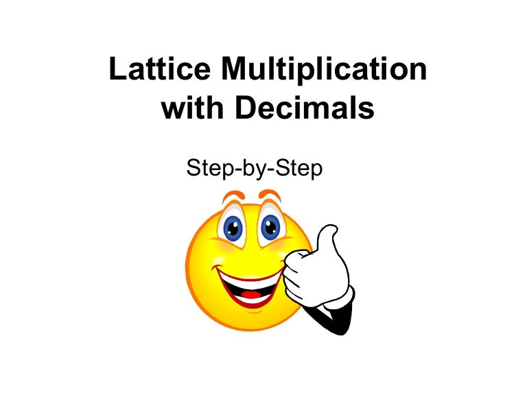 Decimal lattice multiplication – Lattice Multiplication with Decimals Worksheets