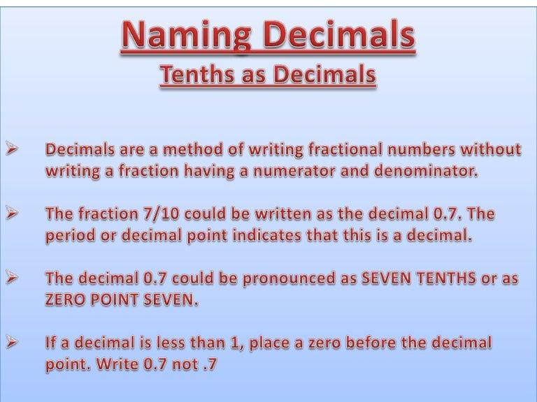Decimal Powerpoint Presentation