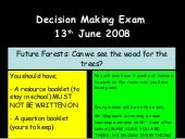 Decision Making Exam