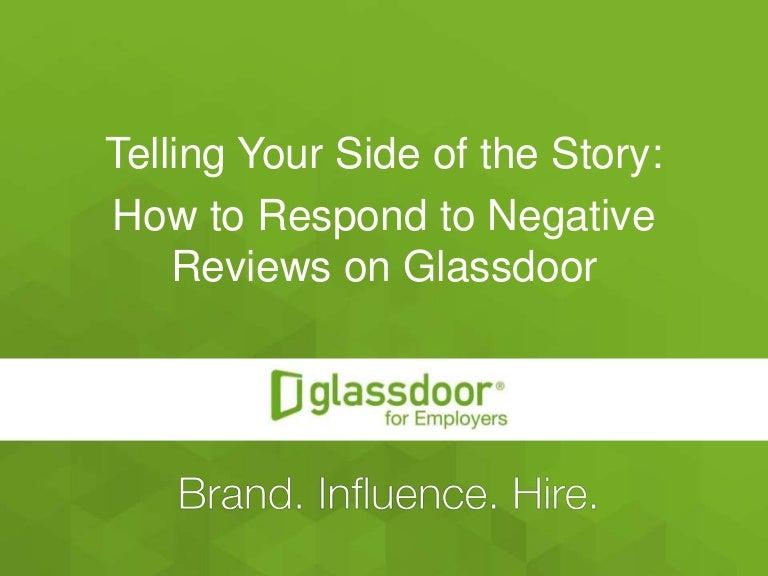 How To Respond To Negative Glassdoor Reviews