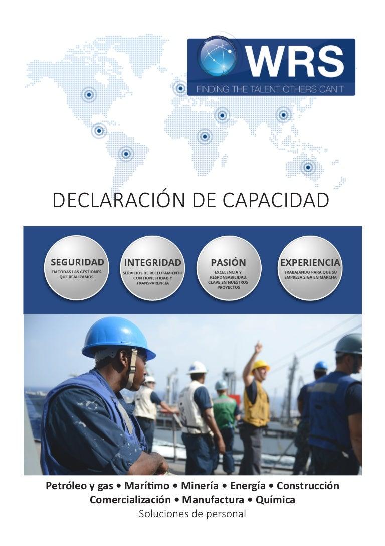 WRS Declaración de Capacidad