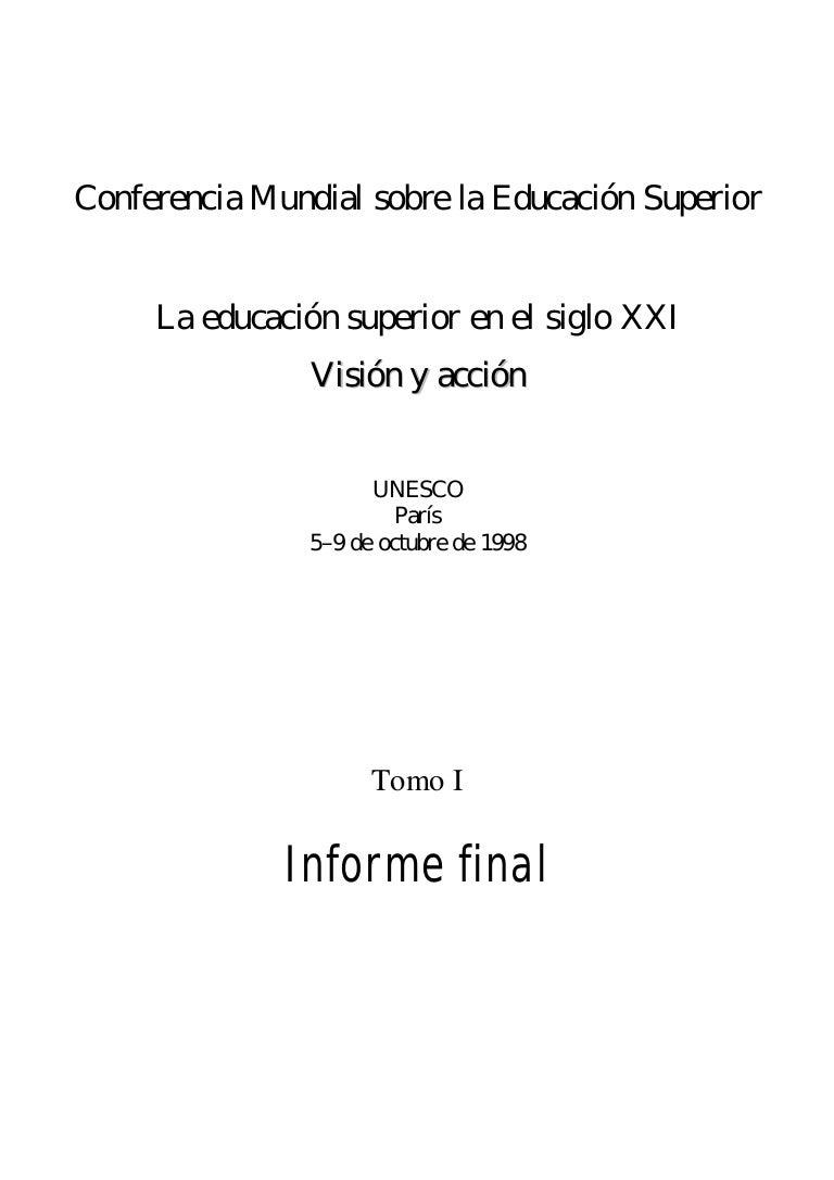 Declaración UNESCO 1998