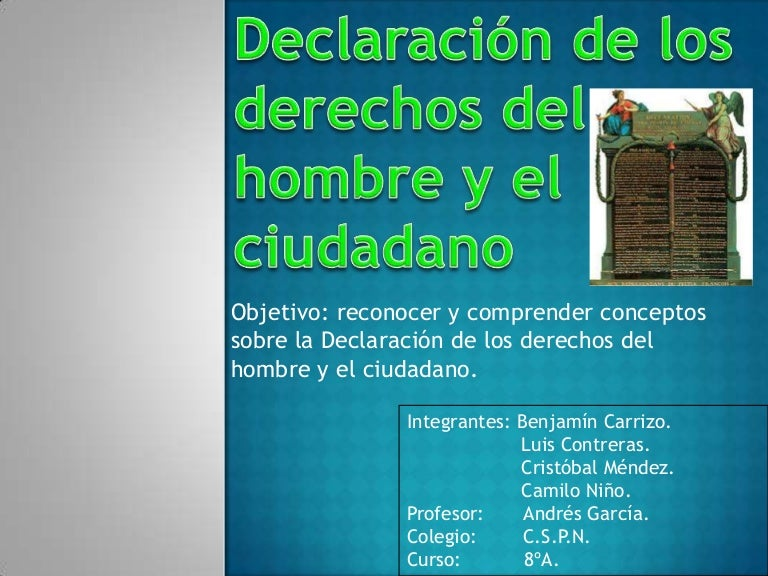 Declaracion de los derechos del hombre y el ciudadano (1)