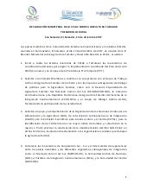Declaración y plan de acción 2018