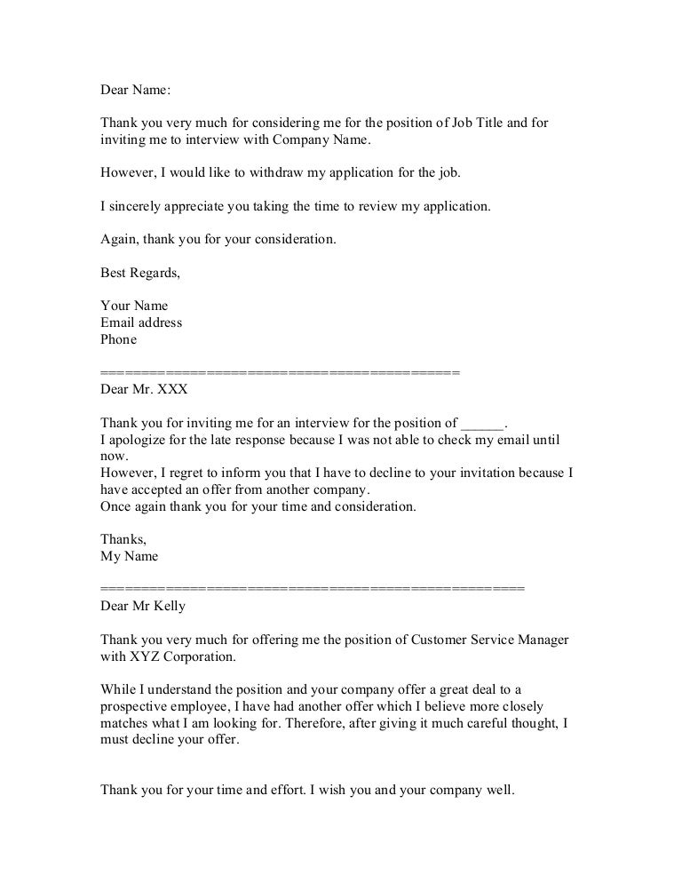 Sample decline interview letter muckeenidesign sample decline interview letter decline a job interview spiritdancerdesigns