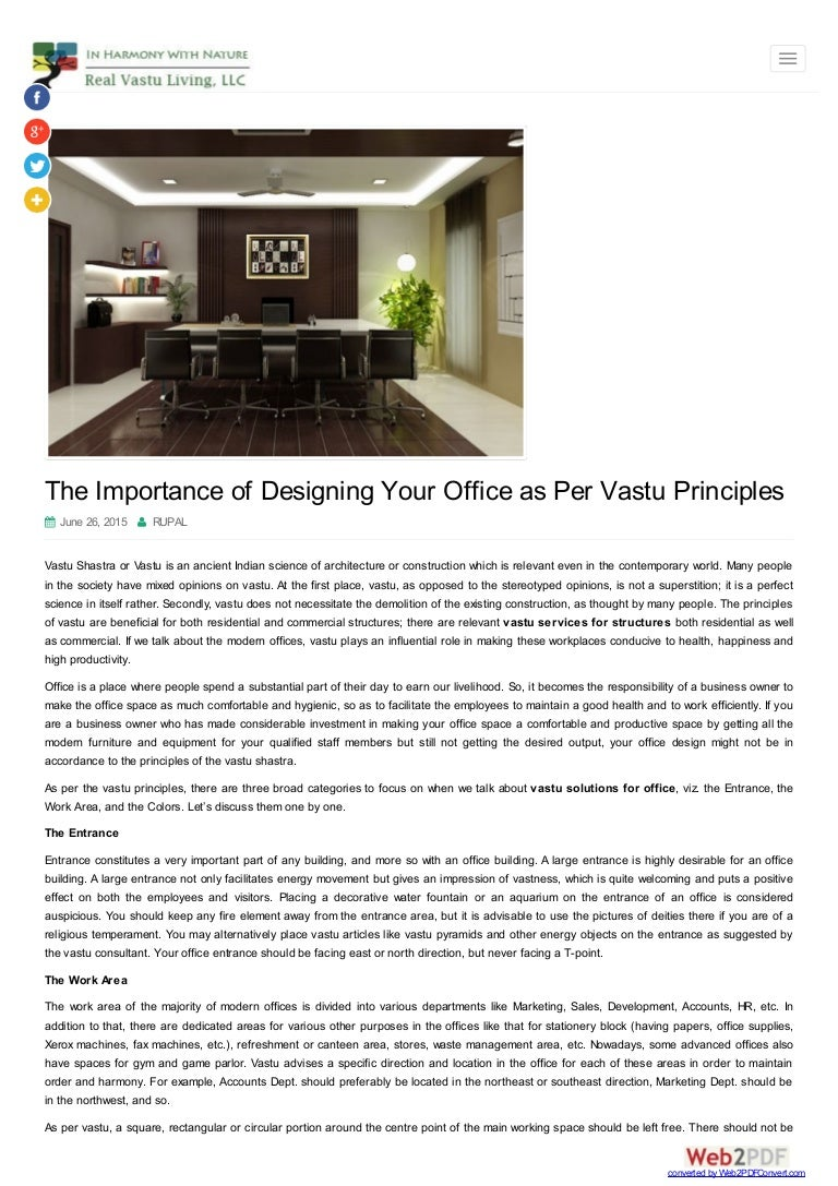 Decorate your home and office as per vastu shastra rules