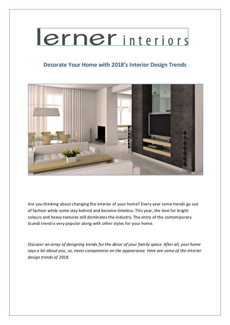 home interior design trends 2018 fashion