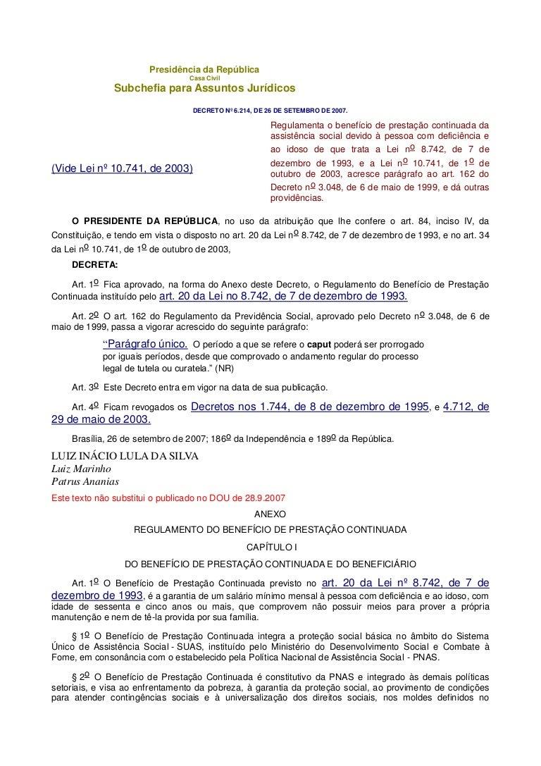 DECRETO 6214 EM EBOOK DOWNLOAD