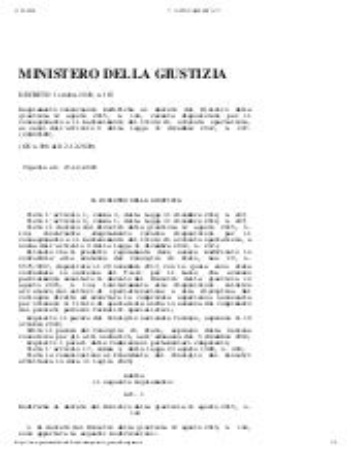 Decreto Ministero Giustizia n. 163/2020 (specializzazioni avvocati)