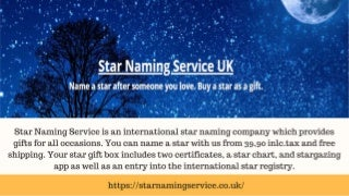 Dedicate A Star to Your Loved One With Star Naming Service UK