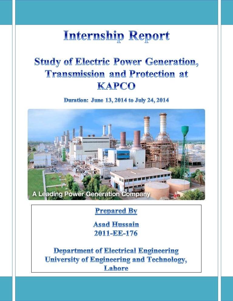 Gas Turbine Power Station Internship Report