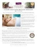 Deep Tissue Massage CE Workshop