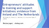 Entrepreneurs' attitudesto training and supportinitiatives: evidence from Ireland and The Netherlands
