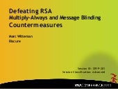 Defeating RSA Multiply-Always and Message Blinding Countermeasures