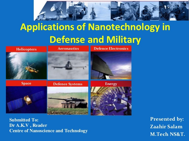 Nanotechnology in Defence applications