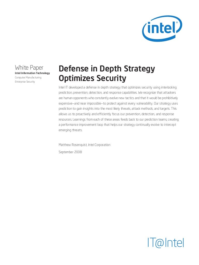 Defense In Depth Strategy Optimizes Security