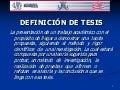 Definicion tipos tesis