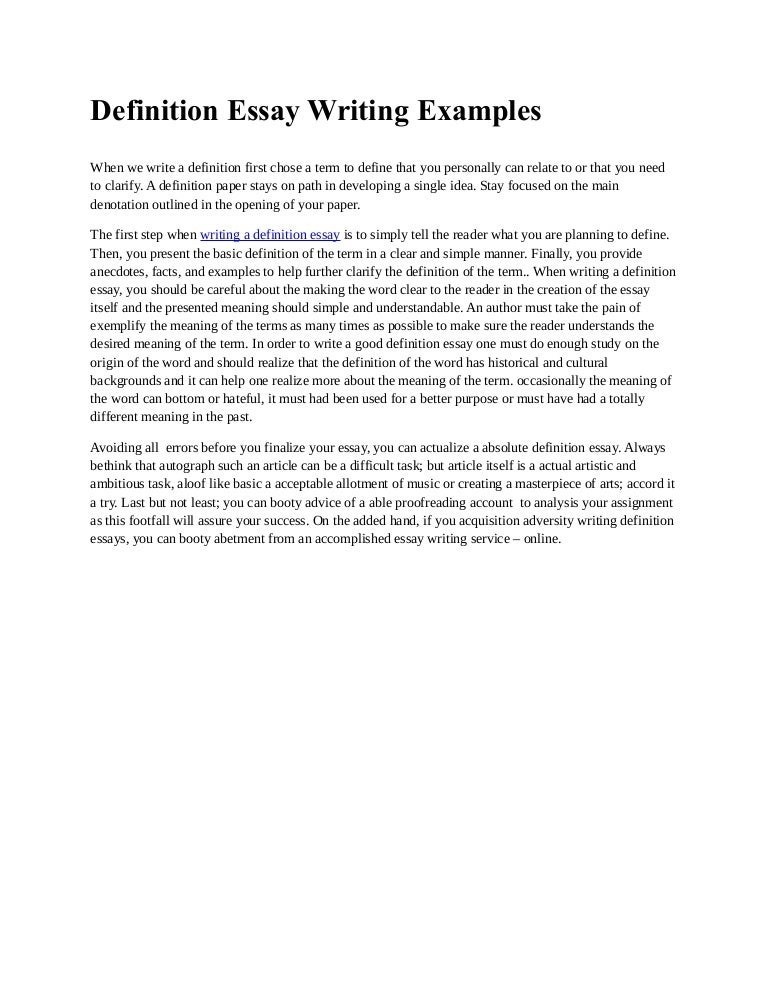 definition essay writing examples - What Is Essay Writing Example
