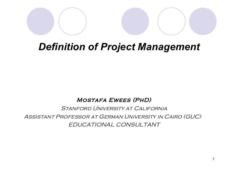 Definition Of Project Management
