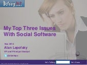 Things I'd Like Social Software Vendors To Focus On