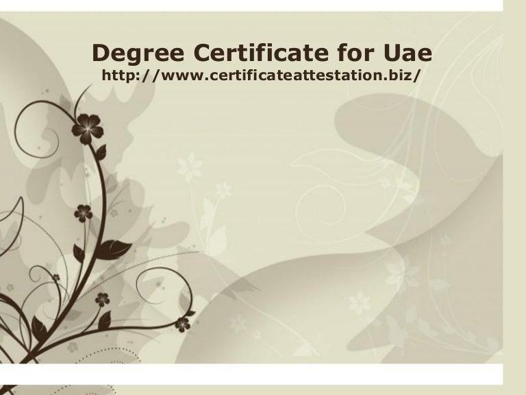 Degree certificate for uae toneelgroepblik Choice Image