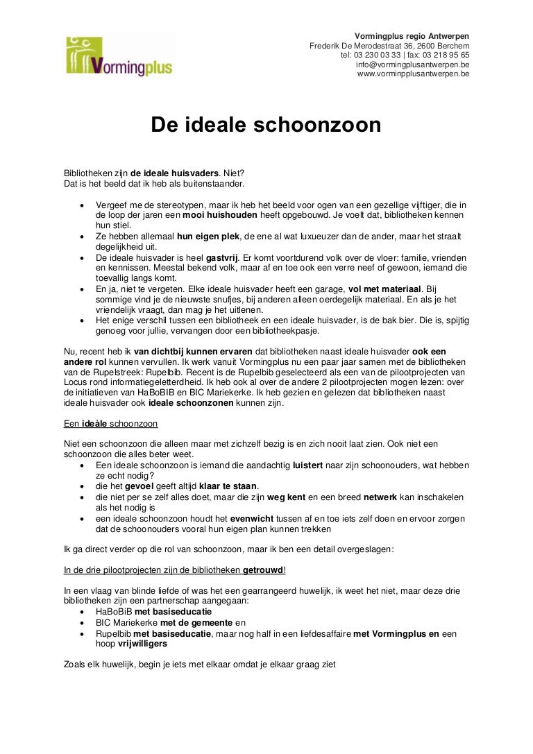 De Ideale Schoonzoon.De Ideale Schoonzoon