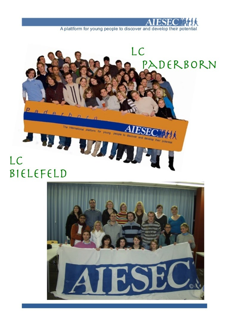 Aiesec Münster delegate booklet nico 17th / 18th of may 2008