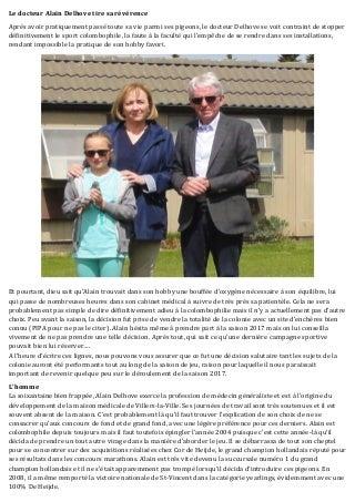 Le docteur Alain Delhove tire sa révérence