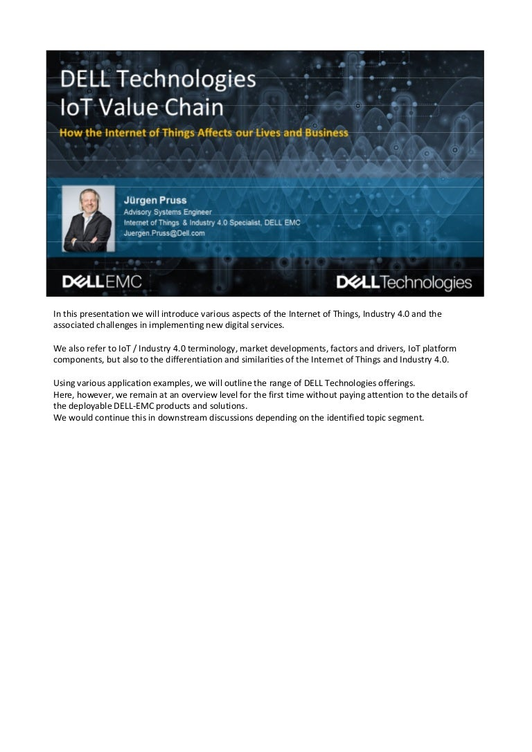 DELL Technologies - The IoT Value Chain - Solutions for the Smart Wor…