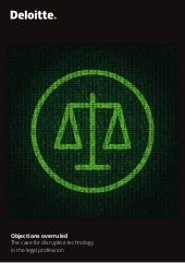 Deloitte the case for disruptive technology in the legal profession 2017