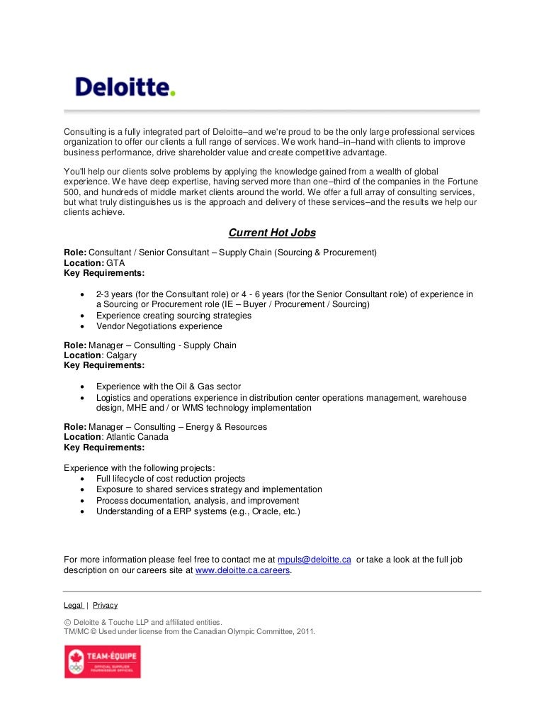 Supply Chain Consultant Sample Resume. Procurement Manager Cv