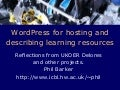 WordPress for hosting and describing learning resources