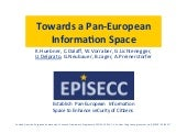 Towards a pan-european information space