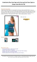 a936fb253a8c5 Delta burke plus size swimsuit in sarong style from options (grape green  multi,24